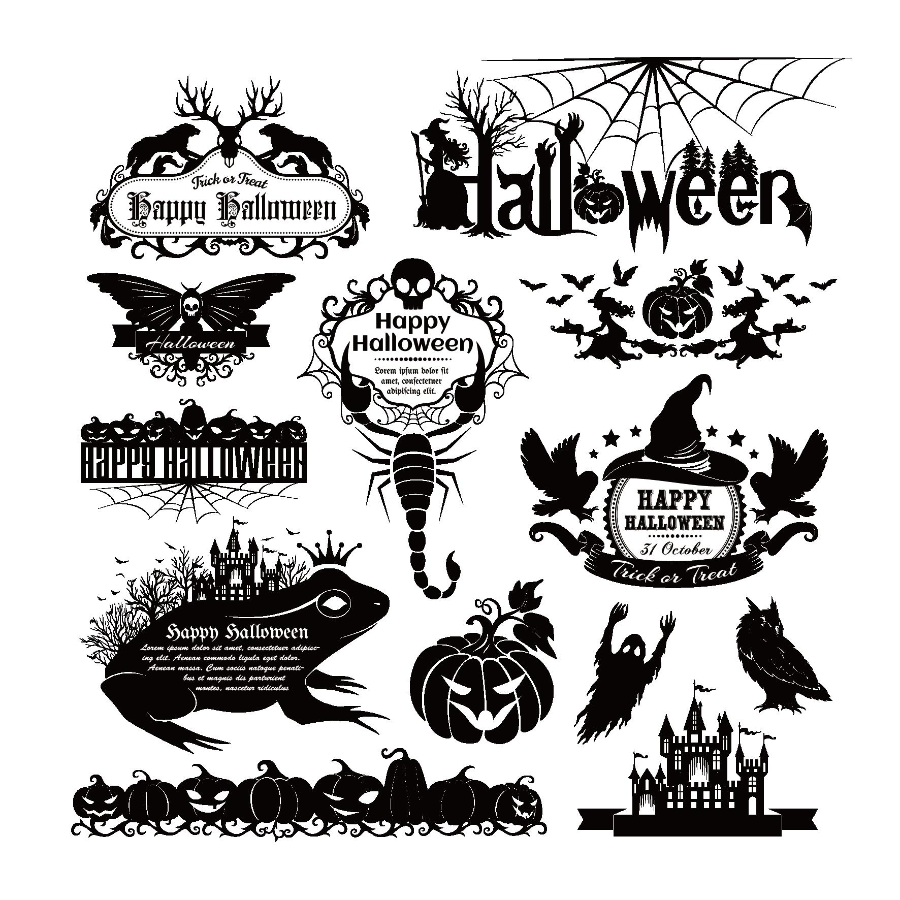 banner transparent download Underwater vector element. Euclidean halloween transprent png