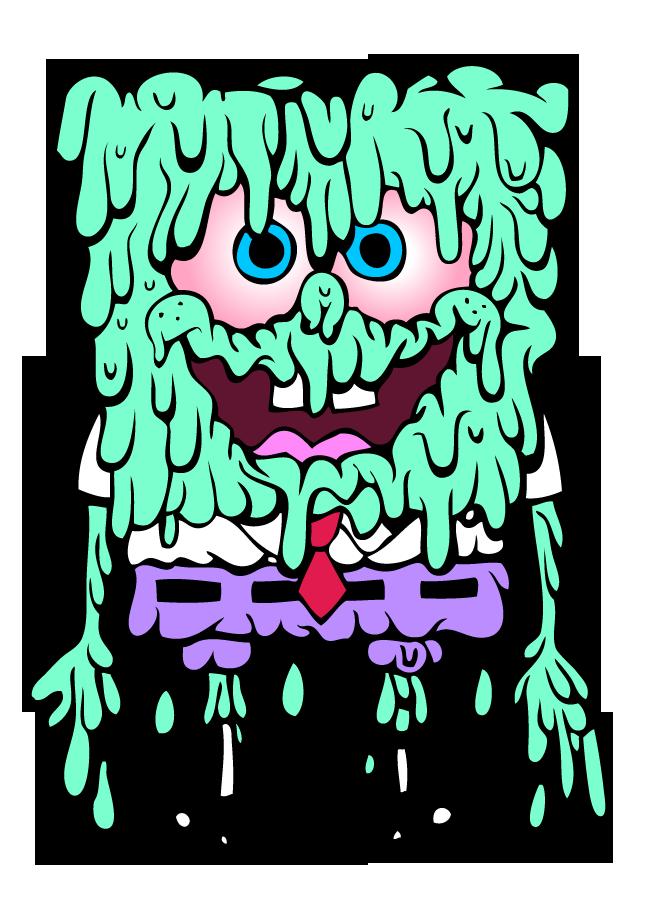 clip art royalty free stock Collection of free spongebob. Drawing random trippy
