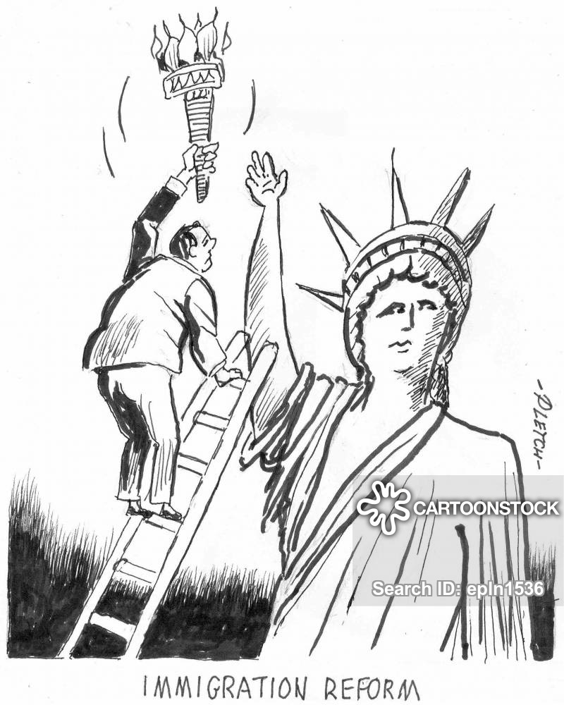 banner library download Immigration drawing political cartoon. Citizenships news and cartoons