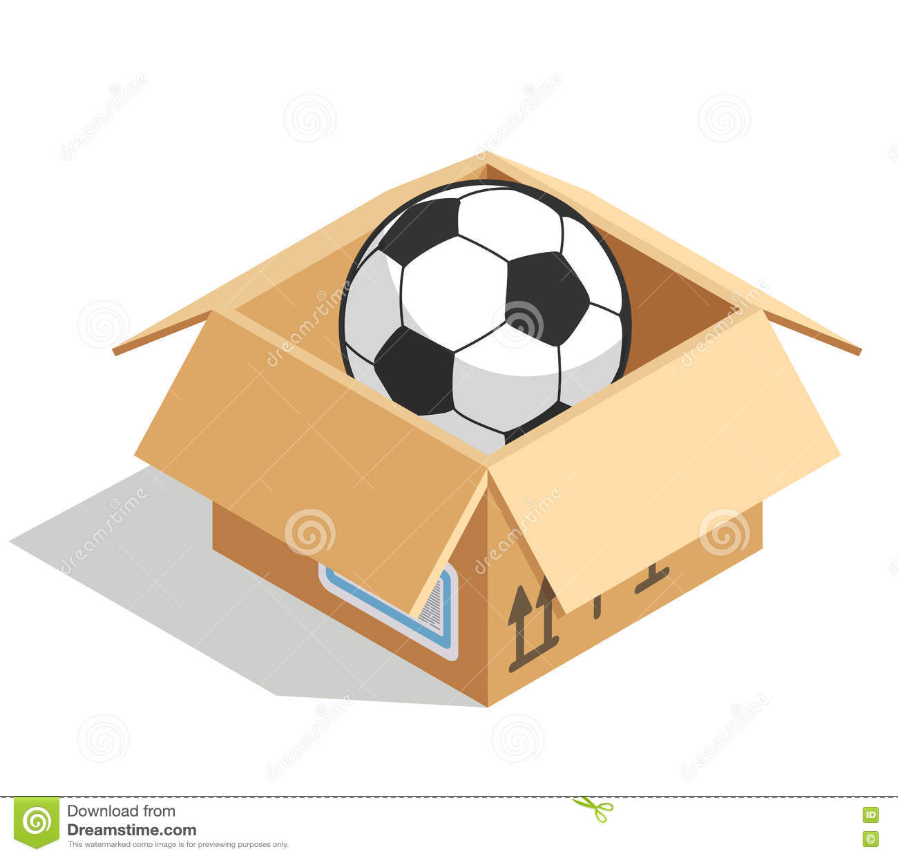 banner royalty free Ball box station . In the clipart