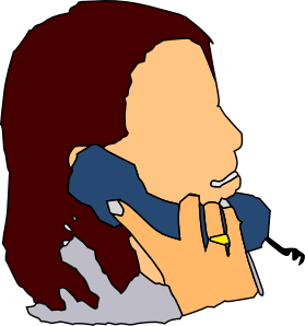 free Talking phone clip art. In the clipart.