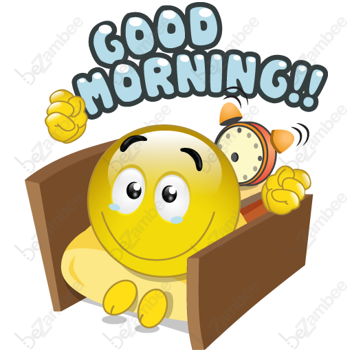 svg black and white stock Waking clipart moring. Goodmorning smiley faces tags