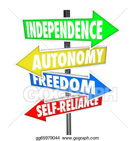 banner royalty free Road sign arrows autonomy. Independence clipart.