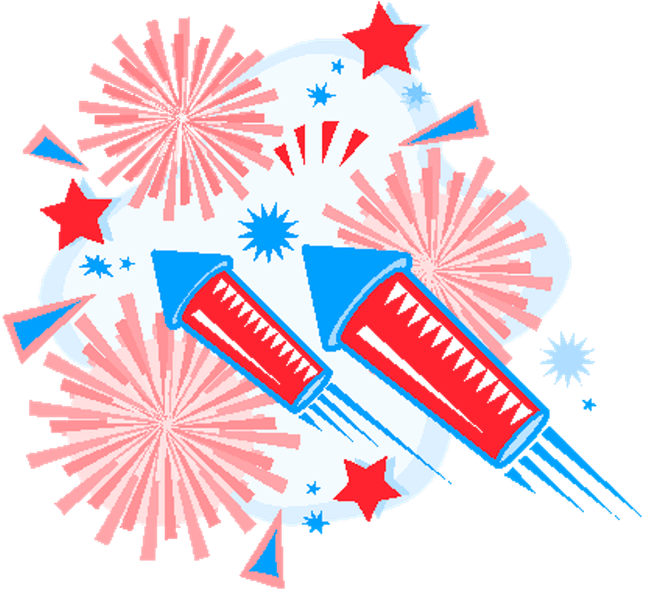 clip free download 4th of clipart fireworks #75519931