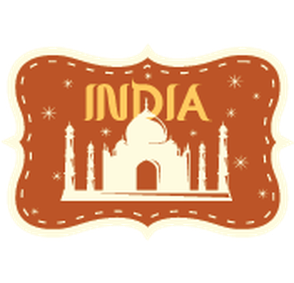 banner freeuse download India clipart. Travel labels or badges.