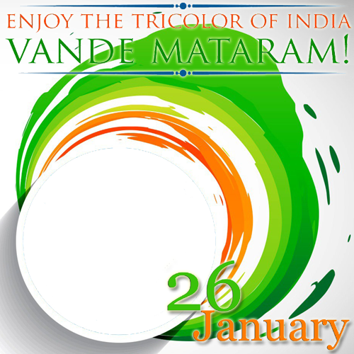 banner freeuse Create Republic of India Vande Mataram Frame With Your Photo