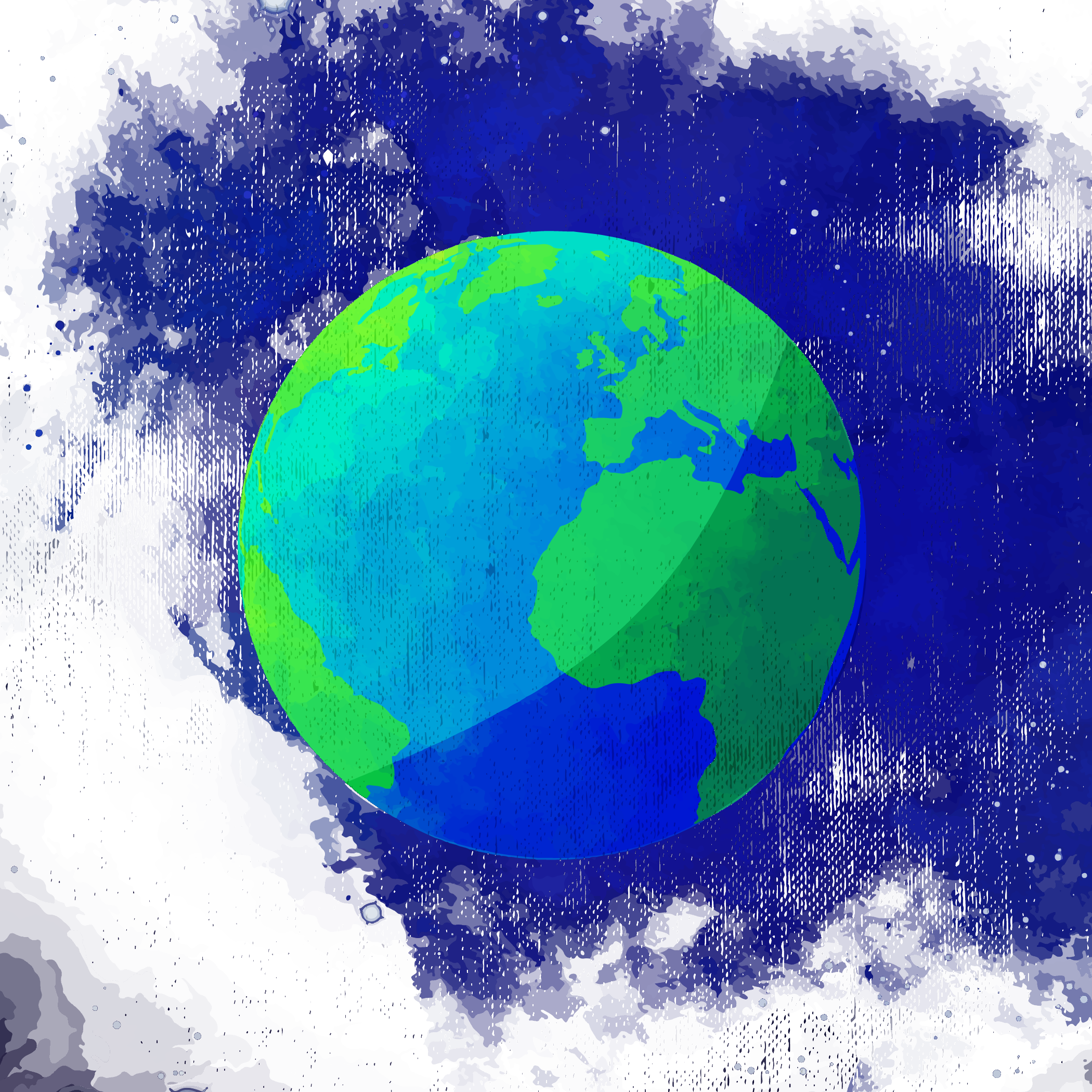 png library stock Earth Watercolor painting