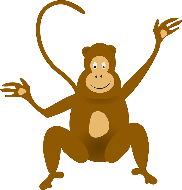 clip free stock Baboon funny monkey pencil. Ape clipart cute