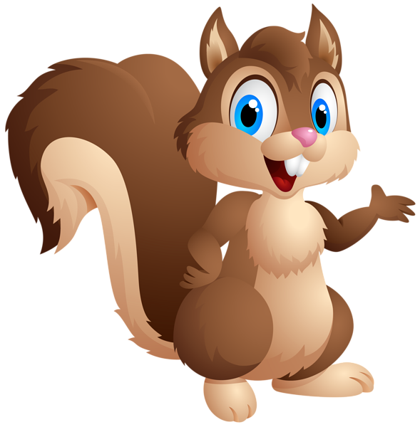 clipart stock Cartoon animal clipart. Cute squirrel png image
