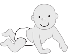 svg royalty free library Infant clipart. Crawling clip art panda.