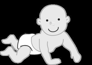 svg royalty free library Infant clipart. Crawling clip art panda