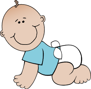 picture transparent download Boy crawling clip art. Bald clipart bald baby