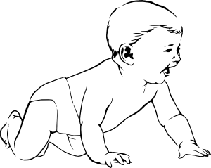 picture transparent stock Crawl clip art at. Infant clipart.