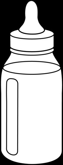 vector library Infant clipart baby milk bottle. Line art free clip
