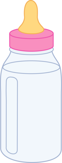 graphic royalty free download Infant clipart baby milk bottle. Pink free clip art