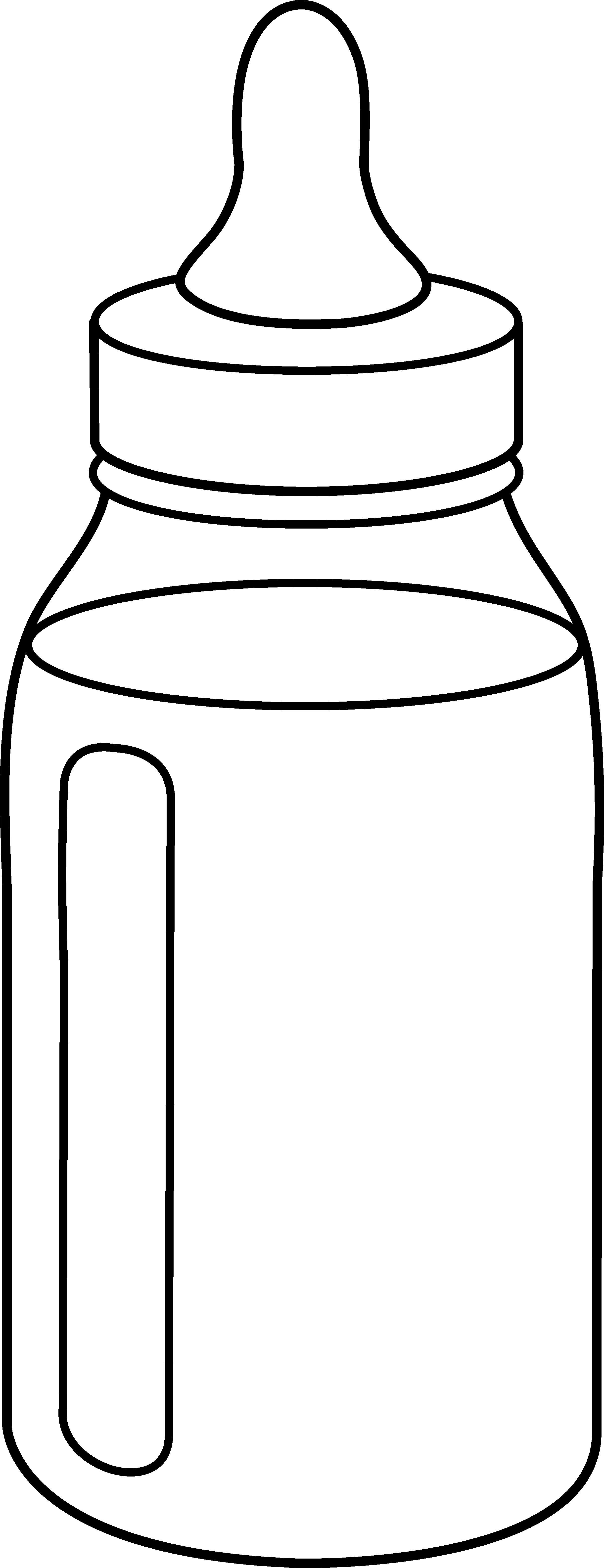 vector library Line art free clip. Infant clipart baby milk bottle