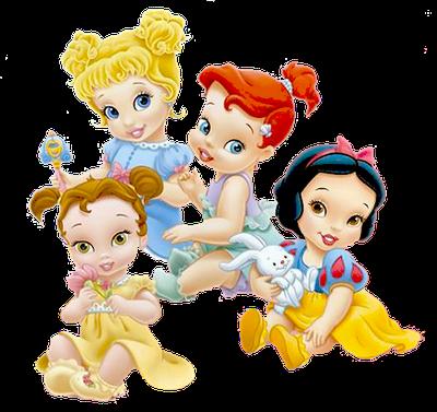 royalty free Disney babies clip art. Belle transparent baby princess