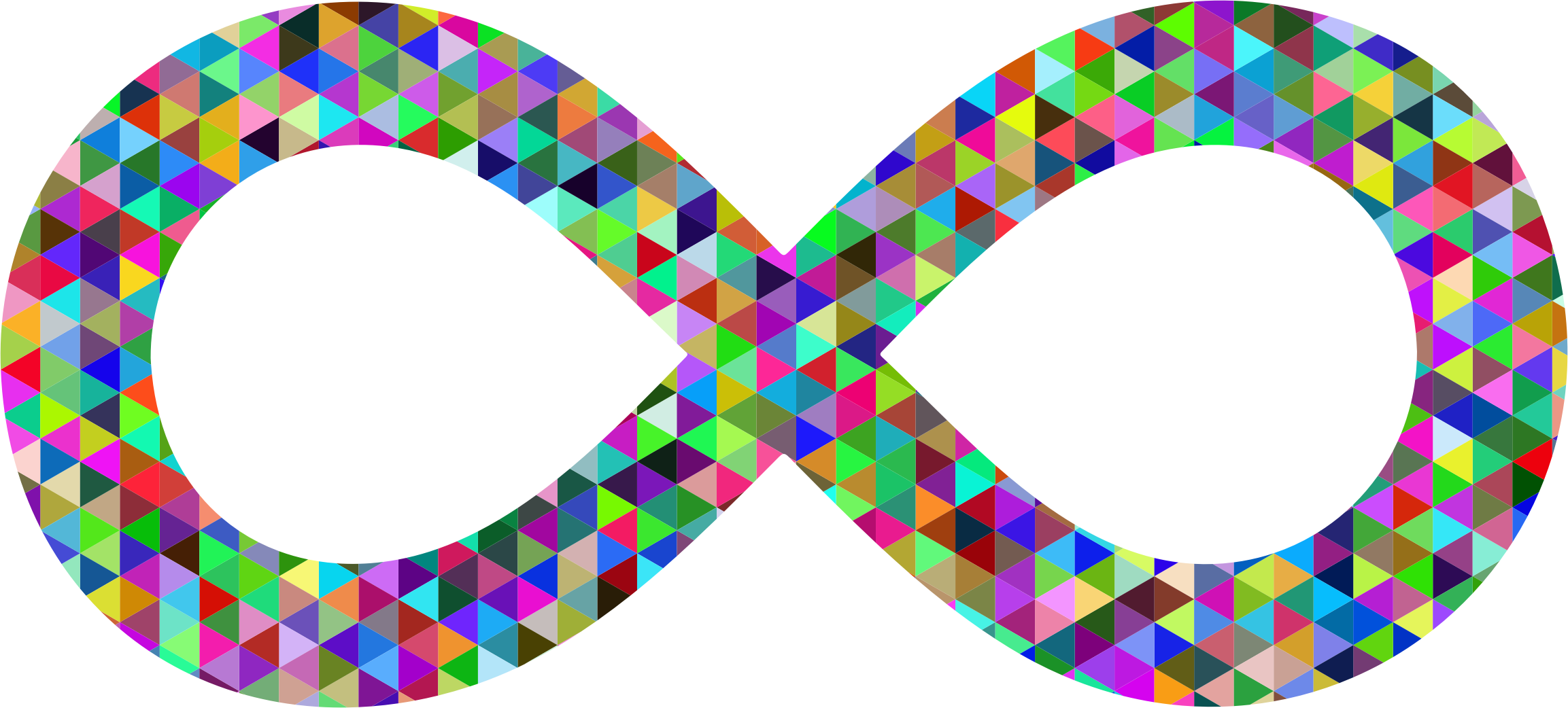 clip black and white download Prismatic triangular symbol big. Infinity clipart.