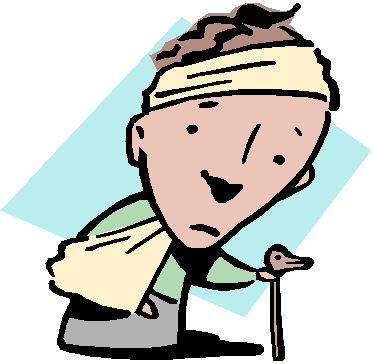 clip black and white library Head Injury Clipart