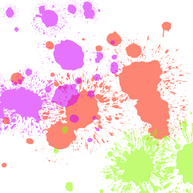 graphic transparent Pastel Ink Splash Paint Splatter