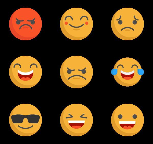 black and white Vector emojis emoticon.  emoji icon packs