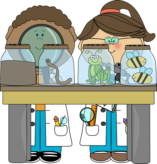 vector freeuse download Kid scientists examining bugs