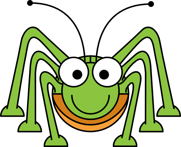clip art library stock Cute cricket insect clipart