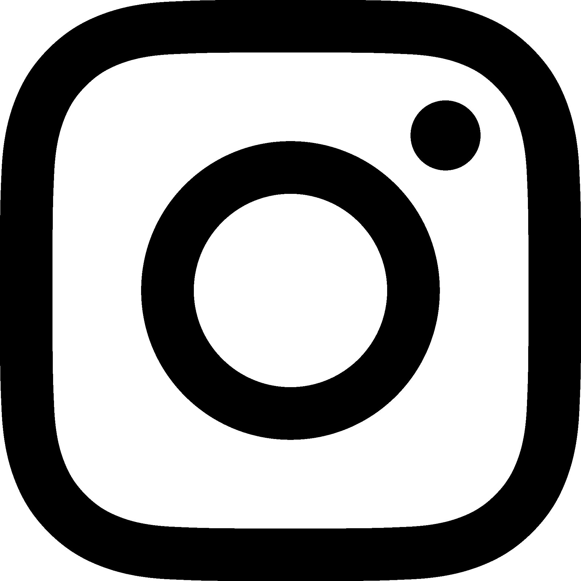 jpg transparent library Black logo png transparent. Instagram clipart