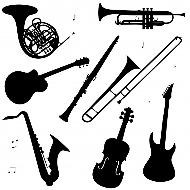 clip art library library Musical free stock photo. Instruments clipart.