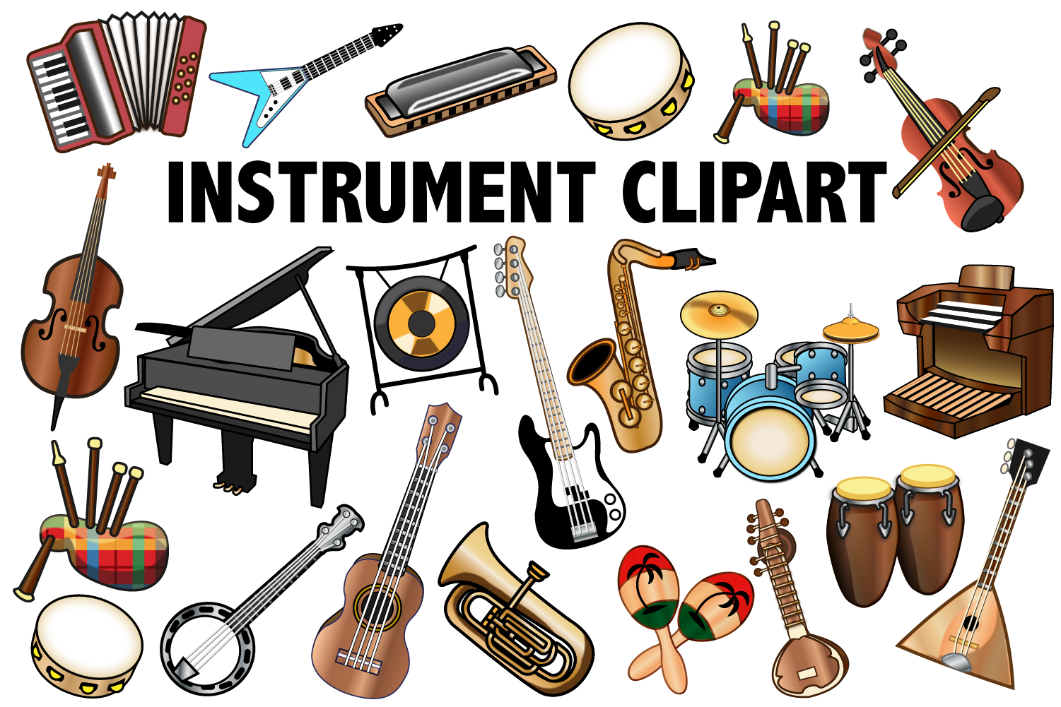 clip art Instruments clipart. Musical instrument .