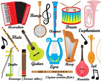 picture royalty free library  png jpg musical. Instruments clipart.