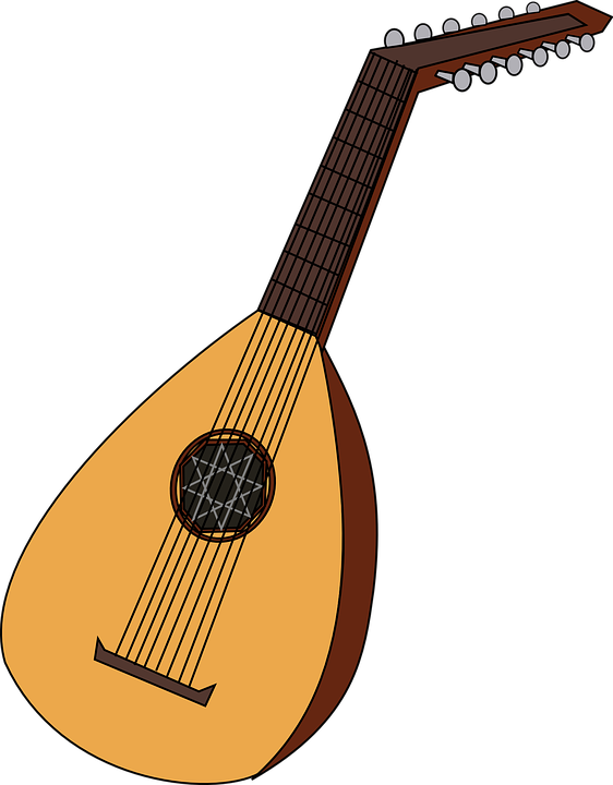 freeuse stock Instruments clipart. Instrument mandolin free on.