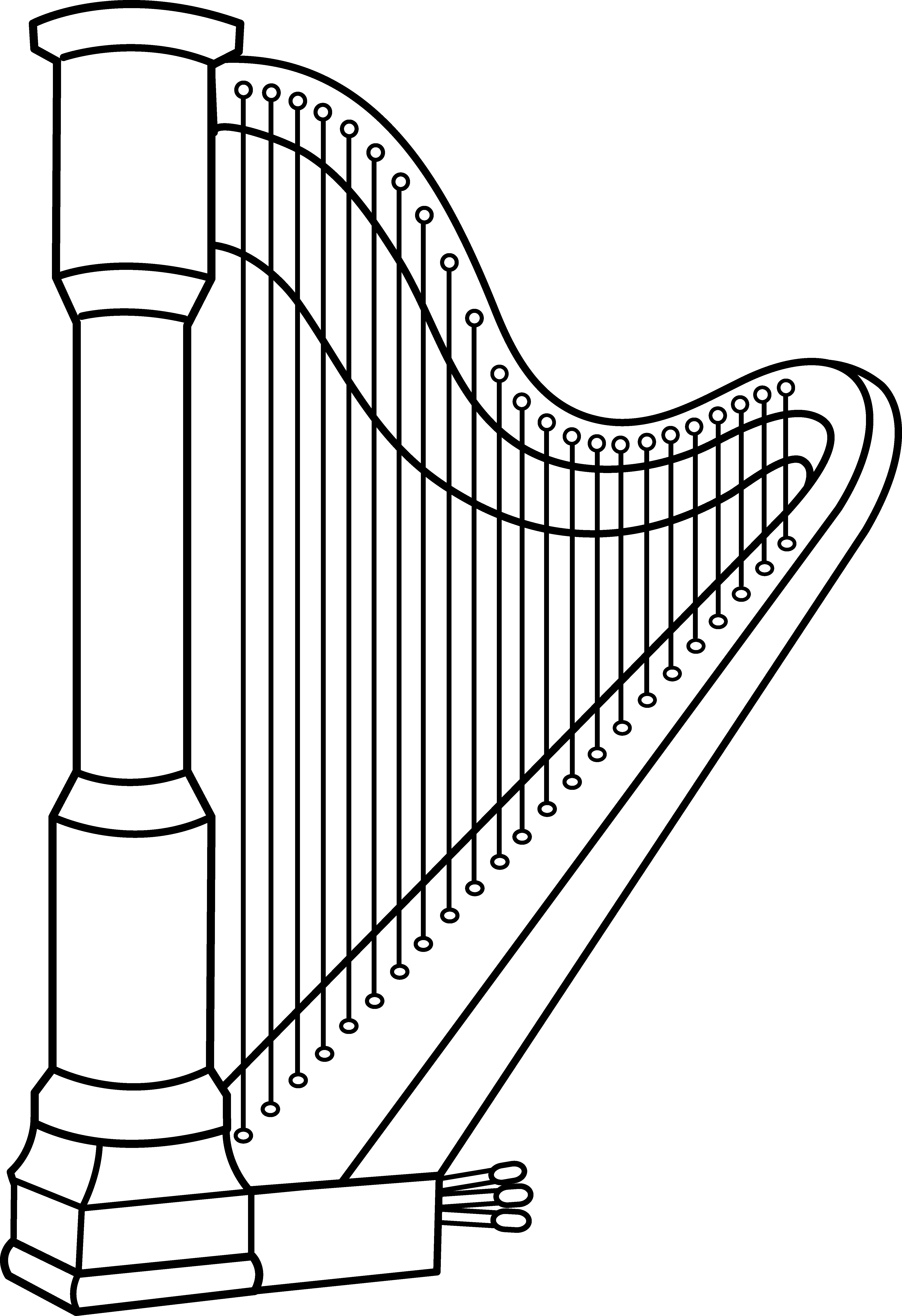 image royalty free library Instrument harmonica free on. Musical instruments clipart black and white