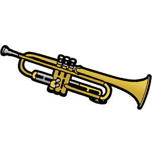 banner stock Free Trumpet Clip Art Image PNG