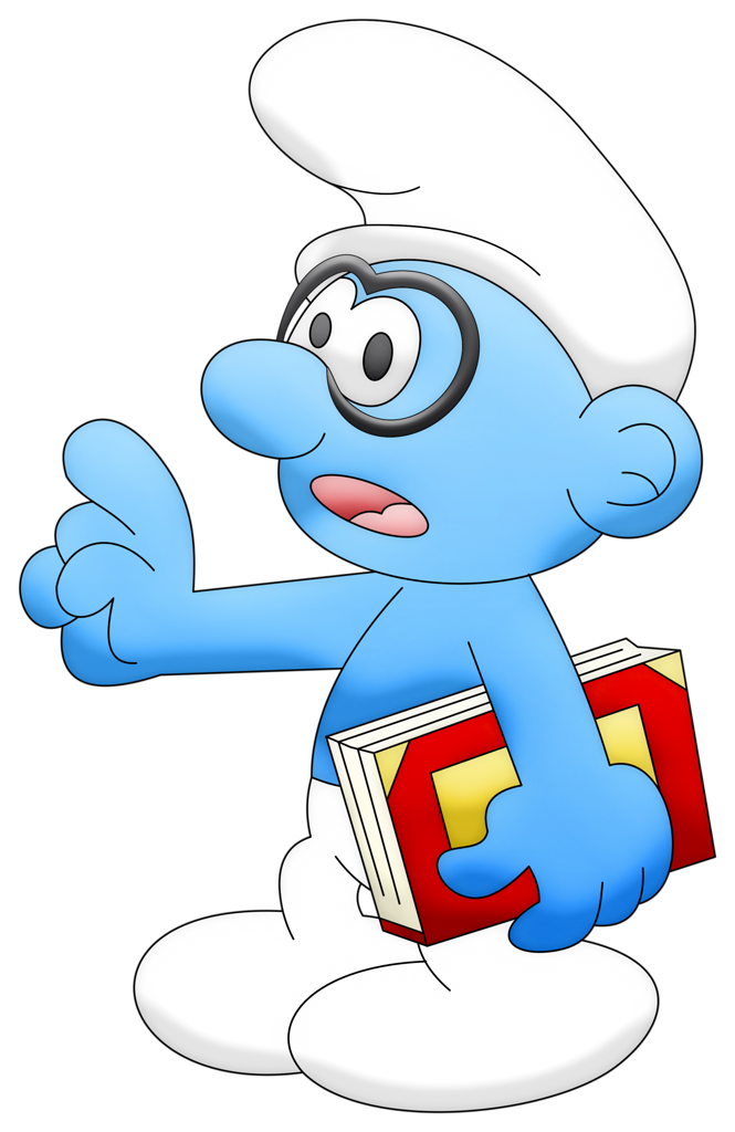 library Co smurf genio png. Smurfs drawing kid