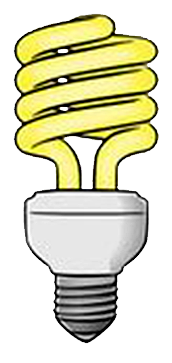 graphic black and white Lamp clipart tube light