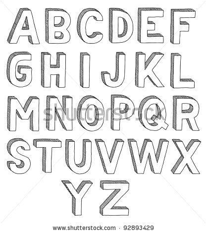 vector free Typography drawing easy. Cool fonts to draw