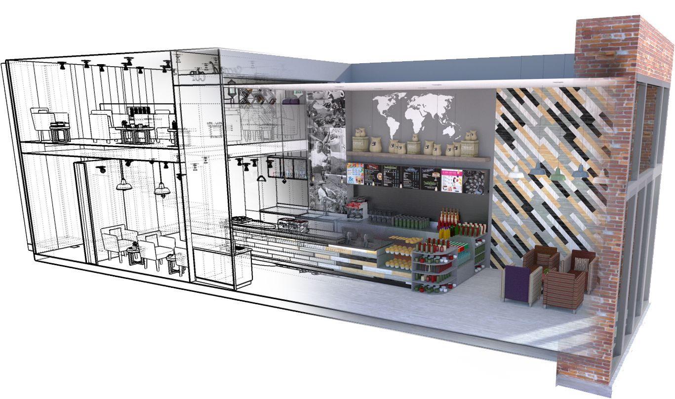 clip free download Design services retail solutions. Interior drawing.