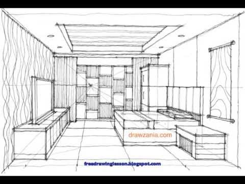 svg library download Perspective step by miandza. Interior drawing.
