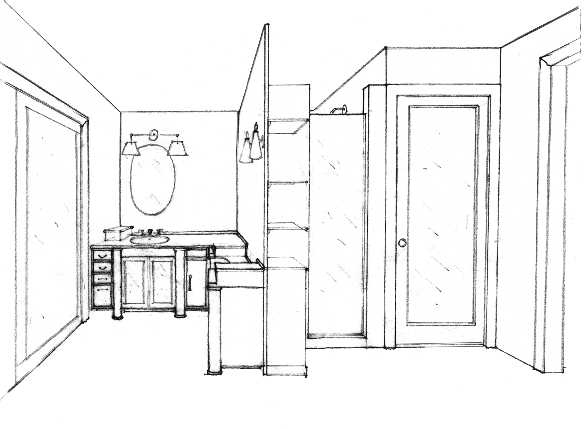 clipart royalty free download  spatial home for. Interior drawing beginner.