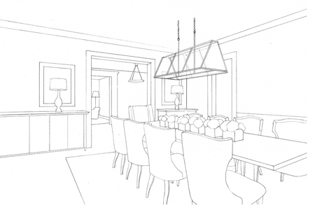 stock  spatial home for. Interior drawing beginner.