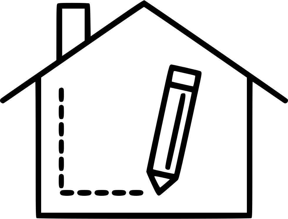 clip art black and white Interior Designer Design Room Home House Pencil Svg Png Icon Free