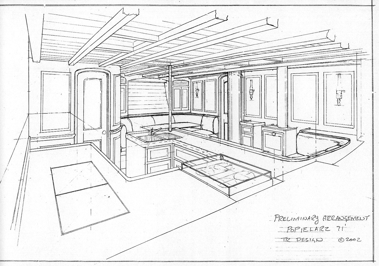clipart stock Drawing Yacht Interiors