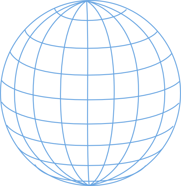 svg royalty free library Globe Outline Clipart