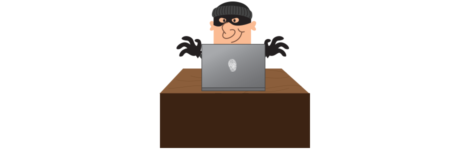 jpg black and white Online prevention tips theif. Thief clipart identity theft
