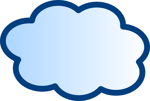 vector free library Network Cloud Clip Art at Clker