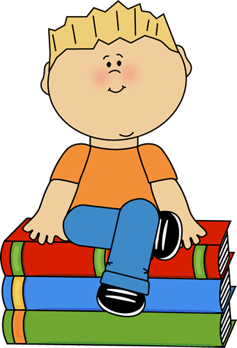 clipart freeuse download Kid reading sitting on. Library kids clipart