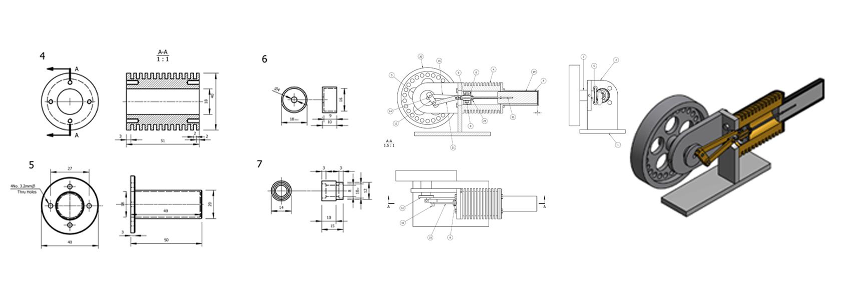 picture black and white CAD design services autocad revit inventor