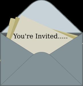 clip art black and white Invitation clipart. Clip art at clker.
