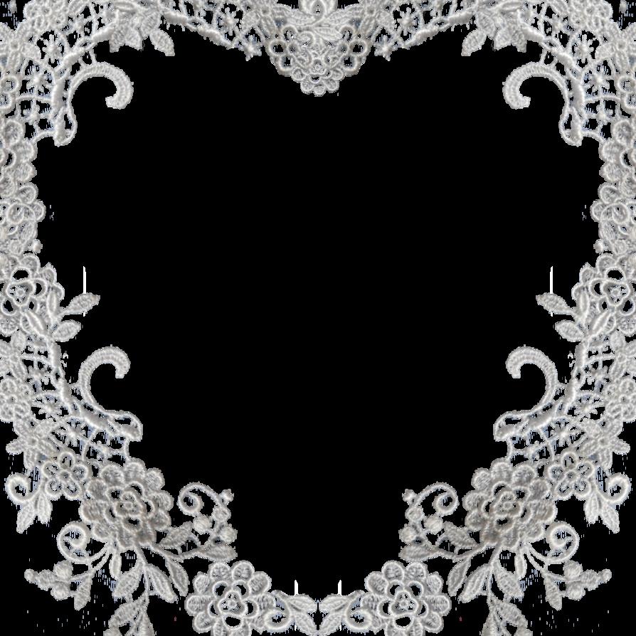 graphic transparent Laces clipart banner. Lace heart border free.
